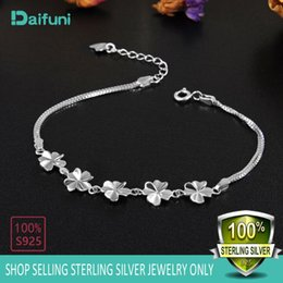 beautiful silver bracelets for girls NZ - 925 Sterling Silver Flowers Bracelet Beautiful Romantic Style for Women Girls High- Quality Fine Jewelry Best Gift For Beloved