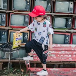 Half Children Shirts Australia - 2019 Summer Kids T-shirt boys cartoon pineapple ice cream letter printed casual tops children round collar half sleeve cotton Tees F5773