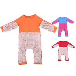 kids jumpsuit romper playsuit NZ - Autumn Infant Baby Jumpsuit Newborn Long Sleeve Romper Mopping Clothes Toddler Baby Kids Girls Playsuit Sunsuit Outfits J190524