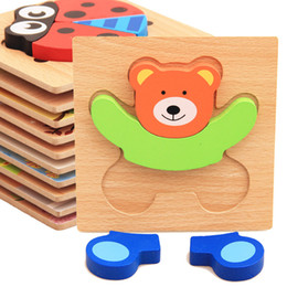 $enCountryForm.capitalKeyWord Australia - Montessori Toys Educational Wooden Toys for Children Early Learning 3D Cartoon Animal Wood Materials Puzzle Intelligence Jigsaw