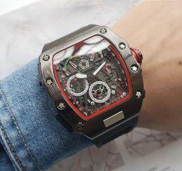 $enCountryForm.capitalKeyWord Canada - 2019 Fashion Skeleton Watches Men Luxury Outdoor Sports Rubber Watch Men's Quartzl Movement Wrist Watch Free Shipping