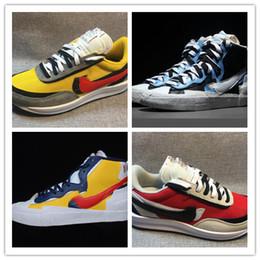 8dbc7034dd Running Shoes Logos Canada - Sacai LDV Waffle Shoes Double LOGO with Dunk  Blazer Mid Blue