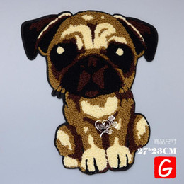$enCountryForm.capitalKeyWord Australia - GUGUTREE towel embroidery big dogs patches cartoon patches badges applique patches for clothing DX-204