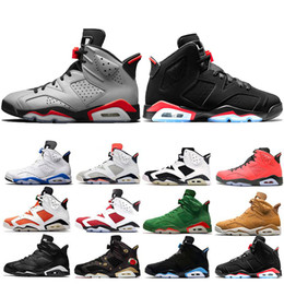 shoes for cats 2019 - 2019 Reflective Bugs Bunny Bred 6 6s Basketball Shoes For Men Tinker UNC Black Cat Carmine Mens Designer Trainer Sports