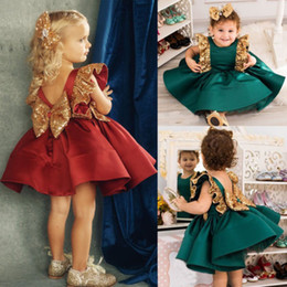 $enCountryForm.capitalKeyWord Australia - Newborn Infant Baby Kids Flower Girl Dress Princess Formal Birthday Pageant Holiday Wedding Bridesmaid Girls Tutu Bow Dress Sets