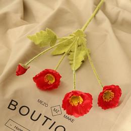$enCountryForm.capitalKeyWord NZ - 1PC Artificial Silk Poppy Flowers Party Decoration Fake flowers For Home Garden DIY Decor Artificielles decorative Flower