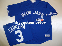 "$enCountryForm.capitalKeyWord UK - Cheap custom MAJESTIC #3 EZEQUIEL CARRERA ""Cool Base"" SEWN Baseball JERSEY BLUE Mens stitched jerseys Big And Tall SIZE XS-6XL For sale"