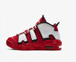 more shoes 2019 - New More Uptempo Red Black Basketball Shoes Men High Quality Scottie Pippen Sneakers Athletic Sport Shoes 40-46 discount