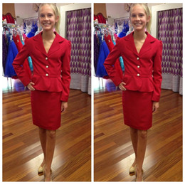 $enCountryForm.capitalKeyWord Australia - Long Sleeves Simple Girls Pageant Interview Red V-neck Three Button Girl Beauty Interview Suit to Wear Pageant Dress Formal Kids Wear