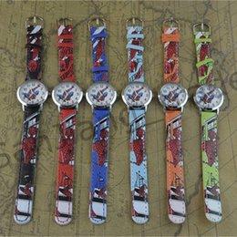 Фестиваль подарок мультфильм часы аниме Человек-Паук часы дети студенты Человек-Паук наручные часы искусственная кожа Кварцевые наручные часы подарок на День Рождения