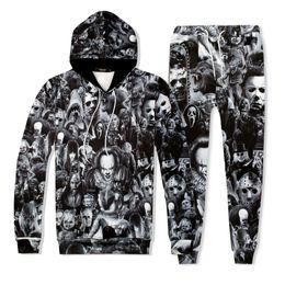 Wholesale jokers pant for sale – custom 3D Unisex Tracksuit Women Men Hoodies Sweatshirt Print Joker Tops and Pants Two Piece Set Male Casual Outfits Tracksuit Set