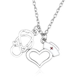 $enCountryForm.capitalKeyWord Australia - 2019 Fashion New Trend Hot Multicolor Exquisite Creative Alloy Mystery Doctor Stethoscope Love Nurse Hat Necklace Sweater Chain Jewelry
