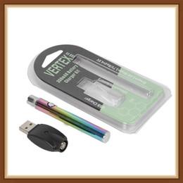 rainbow metal vape 2019 - Rainbow Preheat Battery 350mAh Vertex Preheating Variable Voltage VV Battery Charger Vape Pen Kit for 510 Thread Thick O