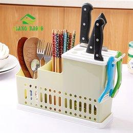$enCountryForm.capitalKeyWord Australia - wholesale Multifunctional Plastic Chopsticks Drain Chopsticks Tube Kitchen Knife Holder Cutlery Rack Home Chopsticks
