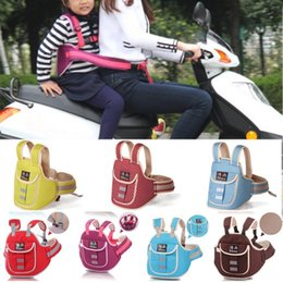 Back Seat For Motorcycle Australia - New Adjustable Lightweight Child Safety Seat Belt with Lock for Bicycle Motorcycle Cycling Baby-care Reflective strip #1023 #593936