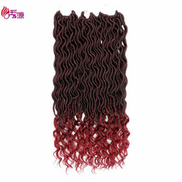 curl hair braiding UK - Dreadlocks Crochet Hair Extensions 18inches Curly Faux Locs Loose Curl Synthetic Braiding Hair 24strands pc Free Shipping