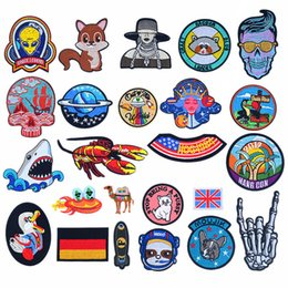 $enCountryForm.capitalKeyWord Australia - Country Flag Iron On Patches Badges for Sew Seam Tailoring Clothes Suits of Coat Jacket Trousers T-shirt Pants Ornament Apparel