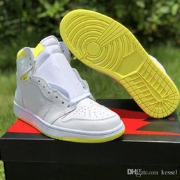 Mens nylon sportswear online shopping - First Class Flight Basketball Shoes for Men s Bar Code Lemon Yellow New Designer Mens Fashion Sportswear Trainer Sneakers Size