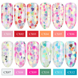 $enCountryForm.capitalKeyWord Australia - 1pcs Neon Glitter Sequins For Nails Holographic Mixed Flake Round Hexagon Stars Colorful Spangles Manicure Decorations LYCX01-12