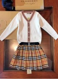 $enCountryForm.capitalKeyWord Australia - kid clothing set black white classical designer sweater + pants dresses brand cheap autumn warm fashion clothes for little girl boy