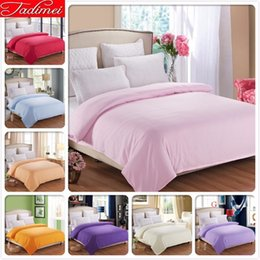 beds single size Australia - 1 Piece Duvet Cover Plain Pure Color Bedding Bag Quilt Case Soft Cotton Adult Kid Child Single Twin Full Queen King Size
