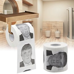 $enCountryForm.capitalKeyWord Australia - 1x Automobile Car Accessories Car tissue box holder for Funny Humour donald trump tissue paper Toilet Paper Gift Prank Joke
