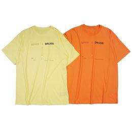 Down shows online shopping - 18SS Raf Simons t Shirt Catwalk Show Cloth Men Women Fashion Oversized short Sleeve Turn down Collar Shirt one size
