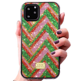glitter bling frame UK - New fashion bling bling Diamond Rhinestone Glitter Phone Case For iPhone 11 pro x xr xs max 8 7 6 plus se 2020 hard frame case cover luxury