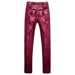 China Red gold Men trousers Asia size S M L XL XXL XXXL XXXXL XXXXXL men pant Slim design mens dress pants cheap xxxxxl dresses suppliers