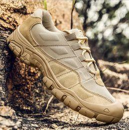 Hombres al aire libre Senderismo Zapatos Impermeables Transpirable Táctico Combat Army Boots Desert Training Zapatillas Antideslizantes Zapatos de Trekking en venta