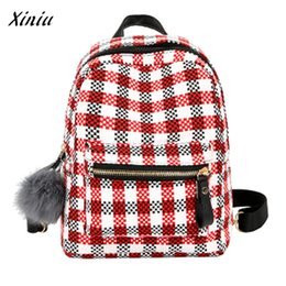 High Quality Backpack Brands Australia - Famous Brand Women Lattice Backpacks Schoolbags Travel High Quality Vintage Designer Candy colored Bag For Teens Girls