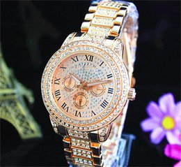 8b799396b756 Fashion Watches michael Quartz Watch Casual Full Steel Dial Style woman All  over the sky stars Crystal Diamond Rome Word Dial Style Watches