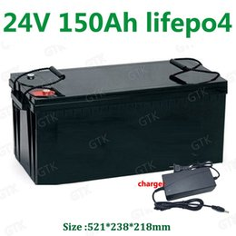 $enCountryForm.capitalKeyWord NZ - Waterproof 24V 150AH lifepo4 lithium Battery BMS 8S for 2400w Solar system motorhomes backup power Inverter RV UPS +20A Charger