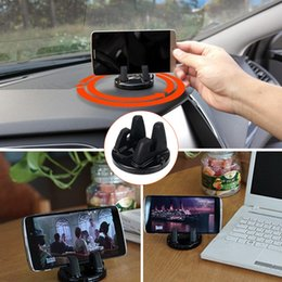 silicone mobile phone car holder 2019 - Universal Car Holder Rotatable Soft Silicone Anti Slip Mat Mobile Phone Mount Stands Bracket Support for iPhone 5 6 6s 7