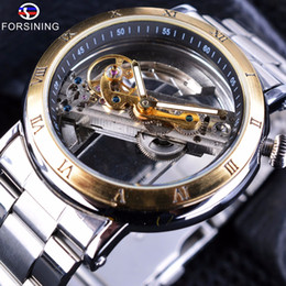 $enCountryForm.capitalKeyWord Australia - Forsining Minimalist Design Transparent Case Wristwatches Roman Number Mens Brand Luxury Automatic Skeleton Steampunk Watches SLZe13