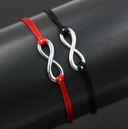 $enCountryForm.capitalKeyWord NZ - free ship 20pcs lot New Design Digital 8 Infinity Silver Color Lucky Bracelet Thin Red Rope Thread String Bracelets For Men Women Love Gift