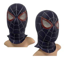 Discount black spider man mask - PVC Cosplay Mask Endgame 4 Black Spider Man Full Head Adult Superhero Masks Party Halloween Costume Props