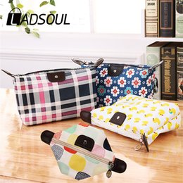 fold cosmetic bag Australia - LADSOUL New dumpling cosmetic bag waterproof washable female bag small object dumpling folding travel storage