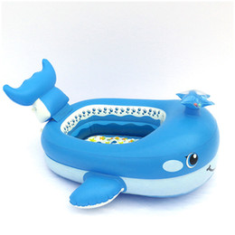 $enCountryForm.capitalKeyWord Australia - Cartoon Boat-shaped Swimming Ring Boat Kid Gift Baby Inflatable Floating Bed Ship Children's Air Mattress Water Sports Toys