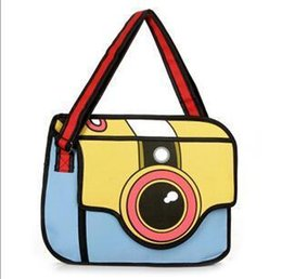 $enCountryForm.capitalKeyWord Australia - Nice 2 Colors New 2d Pop Trend Comic Camera Package Fashion 2d Woman Man 2d Drawing Cartoon Birthday Gift Bag Fashion