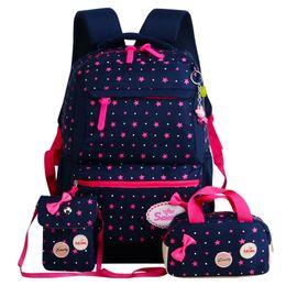 Cute Girl Backpacks For Teenagers Australia - 2018 Cute School Bags For Teenager Girls travel Backpack kids Princess Schoolbags 3pcs Set Backpacks schoolbags mochila escolar Y190601