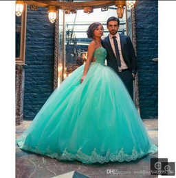 $enCountryForm.capitalKeyWord Australia - 2019 Light Blue Girls Pageant Dress Sweetheart Lace Pearls Ball Gown Prom Dress Party Wear Floor Length Quinceanera Dresses Evening Clothes