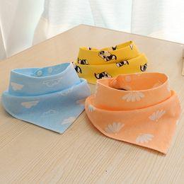 $enCountryForm.capitalKeyWord NZ - New baby mouthwash scarf baby triangle scarf pure cotton newborn double buckle childrens pocket