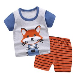 shit cartoon Australia - New Boys Clothing children sets Summer Boys Clothes Boy and girls Clothing Set T-shit+Pants Cotton children's clothing