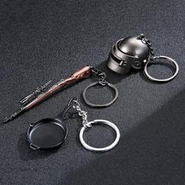 $enCountryForm.capitalKeyWord Canada - Keychain Battle Grounds Keychain Helmet Pan Gun Alloy Keyring Jewelry FPS Game Fans Gift Llaveros Mujer Brelok