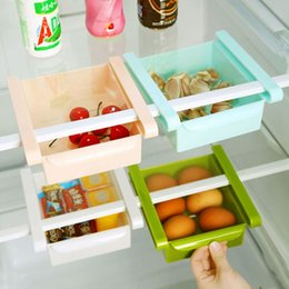 Toys Fridges Australia - wholesale Plastic Drawer Organizer Fridge Storage Box Rack Shelf Holder Organizer Storage Boxes Kitchen Freezer Space Saver