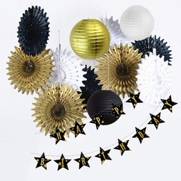 party decorations for adults Australia - Birthday Party Decorations Adult Gold And Black Birthday Banner Party Supplies For 30th, 40th, 50th, 60th Birthday Decoration