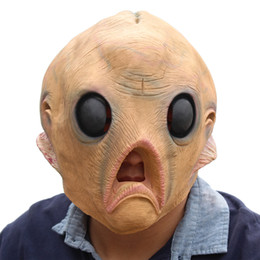 alien movie costumes 2019 - extraterrestrial aliens Latex Masks Movie Cosplay Adult Animal Party Mask kitty Realistic Masquerade Prop Fancy Dress Pa
