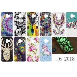 $enCountryForm.capitalKeyWord Australia - For Samsung Galaxy J6 2018 Case Soft TPU Pug Dog Owl Unicorn Deer Flower Butterfly Windbell Glow in Darkness(J6 2018)