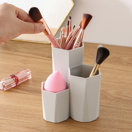 tool box make up storage Australia - YiCleaner Makeup Brush Storage Holder Cosmetic Brush Box Empty Holder Make Up Tools Desktop Container Bathroom Case Organizer